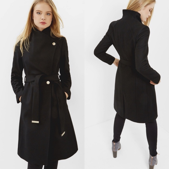 new products cheap sale best price Ted Baker Jackets & Coats   Nwot Long Wool Cashmere Wrap Coat ...